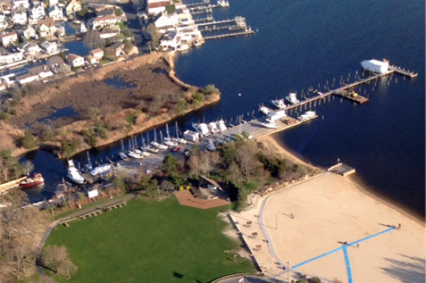 Upgraded grounds at theis NJ Marina