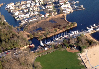 NJ Marina aerial photo